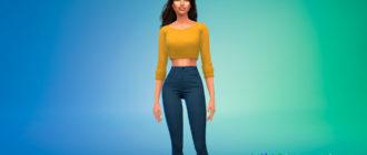 Кроп свитер для Симс 4 - фото 1