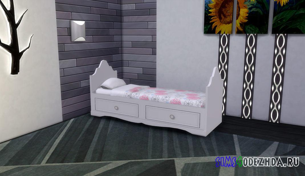 Кровать для девочек для Симс 4 – фото