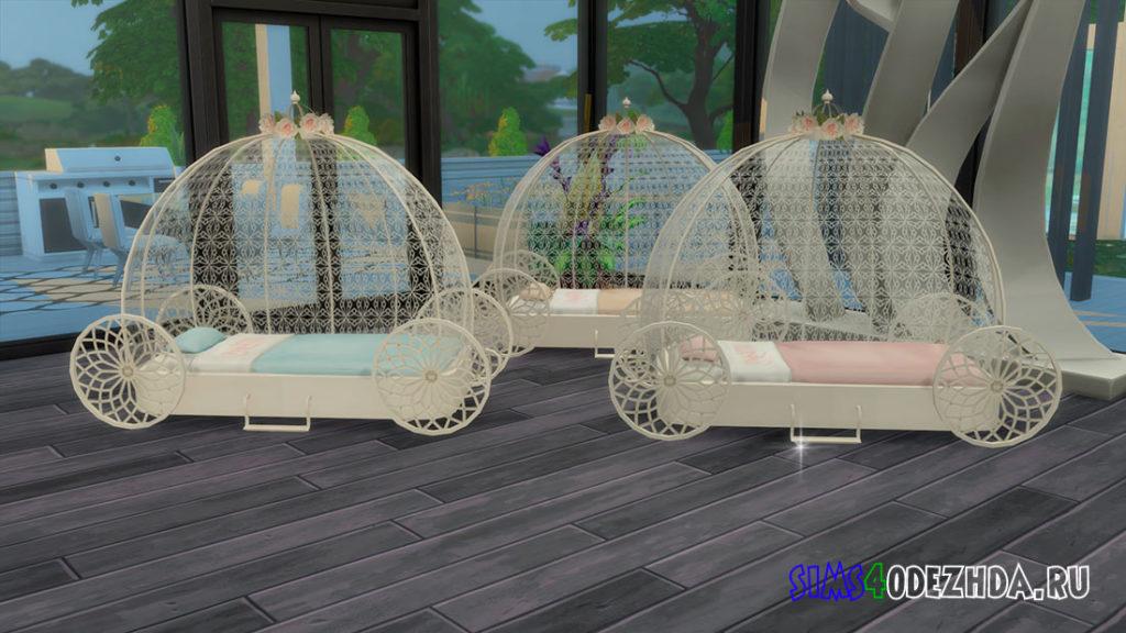 Кровать-колесница для малышей для Симс 4 – фото