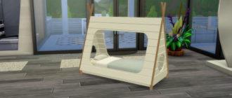 Кровать-вигвам для малышей для Симс 4 – фото 1