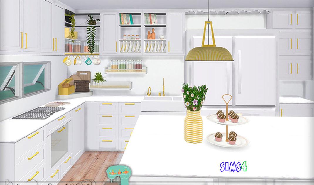 Кухня-Serenity-для-Симс-4-–-фото-1