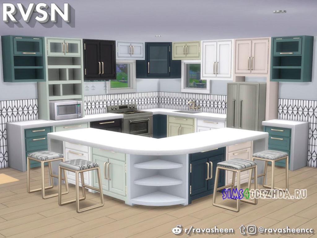 Кухня-Simmer-Down-Kitchen-Counter-Set-для-Симс-4-–-фото-2