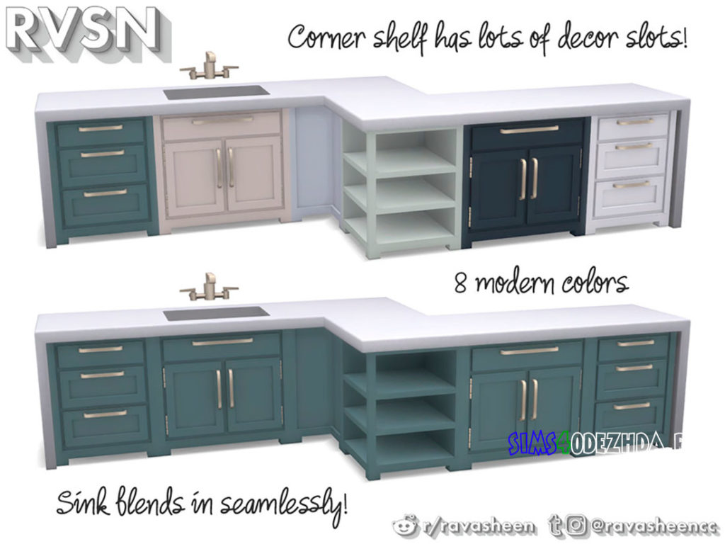 Кухня-Simmer-Down-Kitchen-Counter-Set-для-Симс-4-–-фото-3