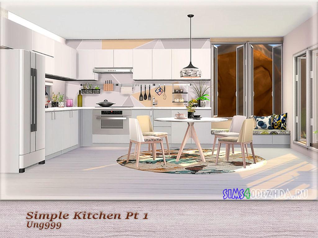 Кухня-Simple-Kitchen-для-Симс-4-–-фото-2