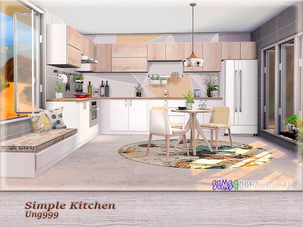 Кухня-Simple-Kitchen-для-Симс-4-–-фото-3