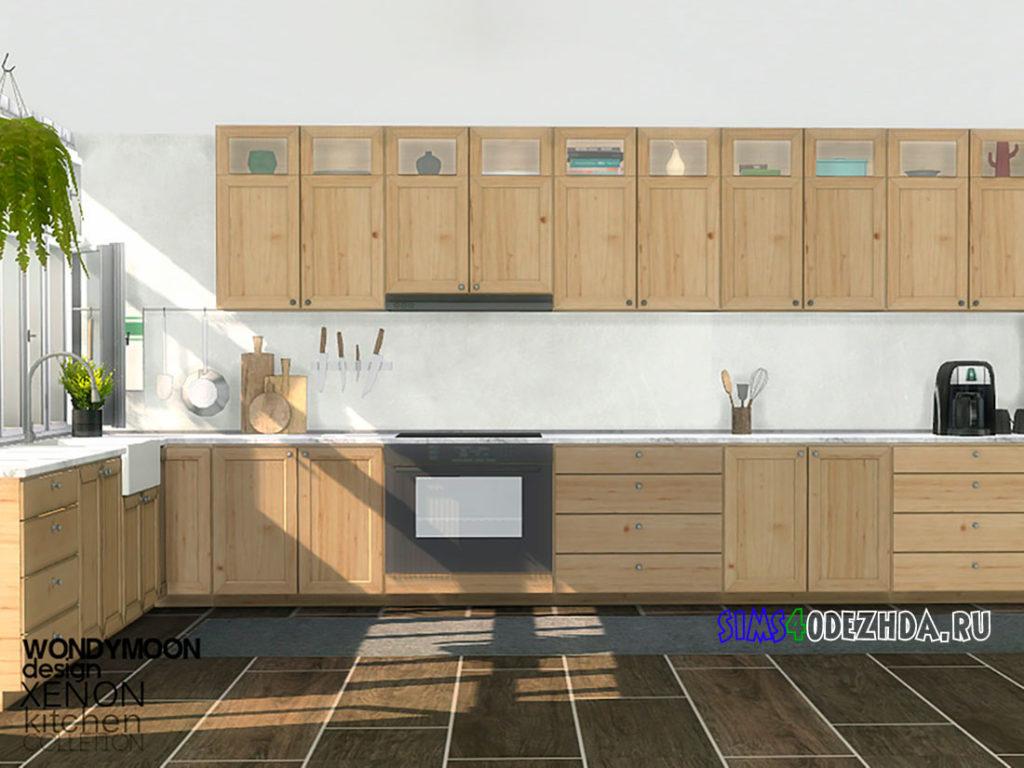 Кухня-Xenon-Kitchen-для-Симс-4-–-фото-1
