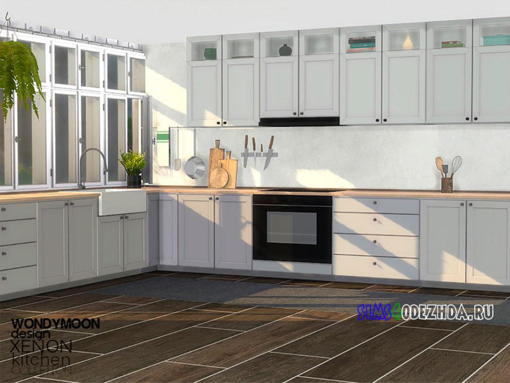 Кухня-Xenon-Kitchen-для-Симс-4-–-фото-2