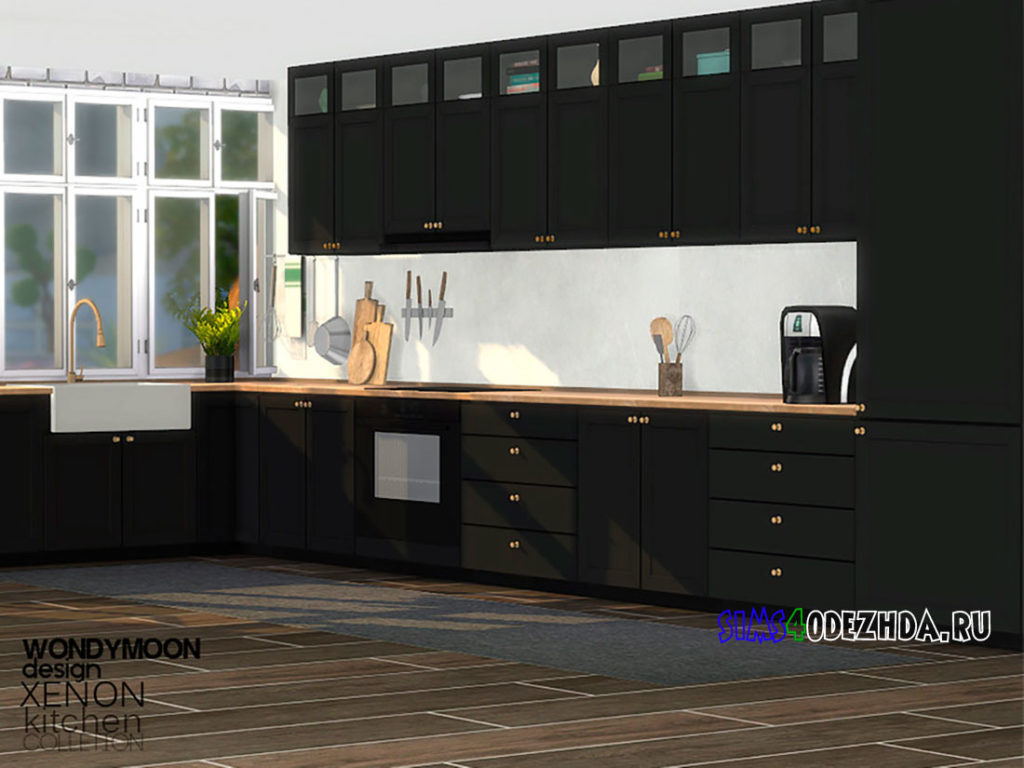 Кухня-Xenon-Kitchen-для-Симс-4-–-фото-3