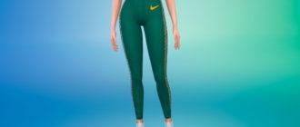 Летние спортивные штаны с высокой талией для Симс 4 – фото 1