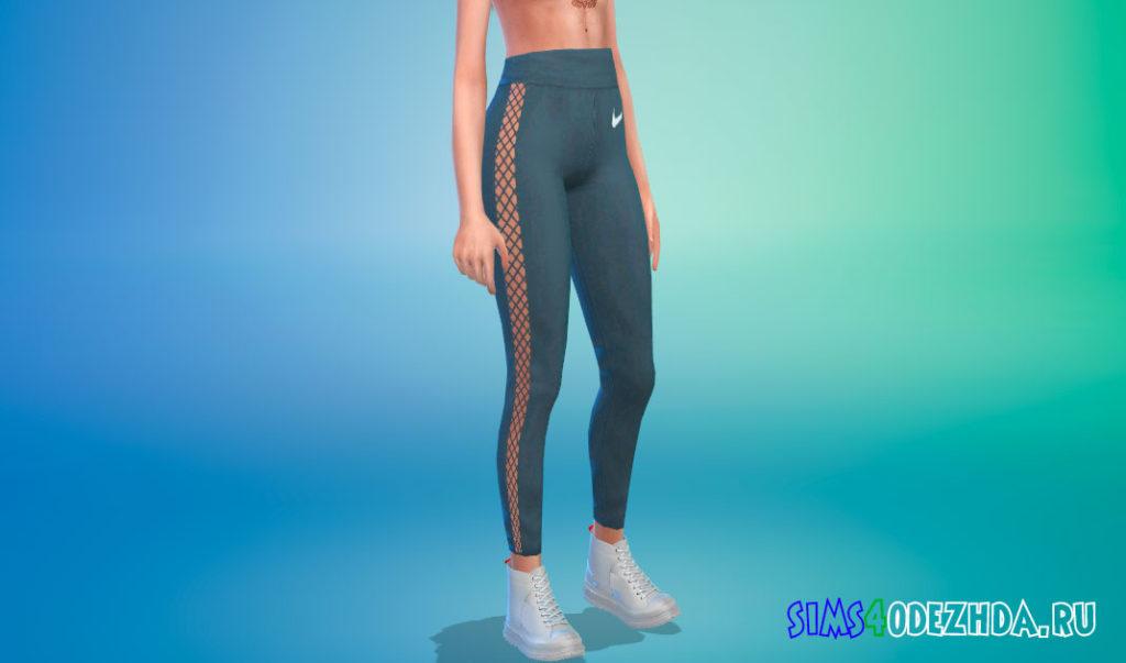 Летние спортивные штаны с высокой талией для Симс 4 – фото 3