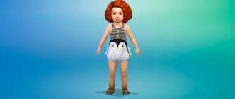 Летний комбинезон для малышей для Симс 4 – фото 1