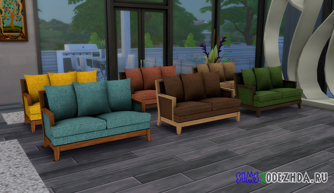 Маленький диван для Симс 4 – фото
