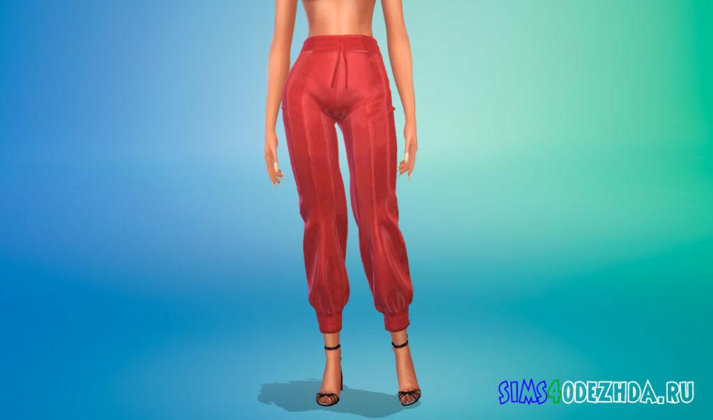 Мешковатые женские штаны для Симс 4 – фото 3
