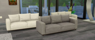Мягкий 2-х местный диван для Симс 4 – фото