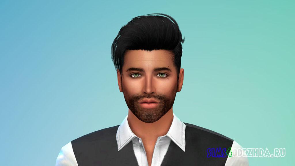 Мужская борода N41 для Симс 4 – фото 1