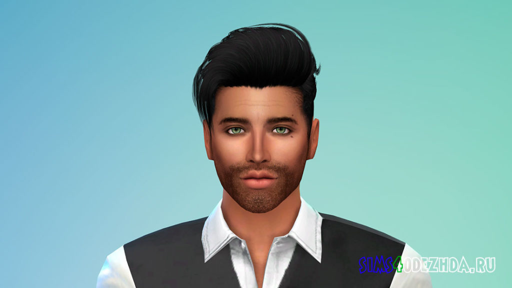 Мужская борода N41 для Симс 4 – фото 2