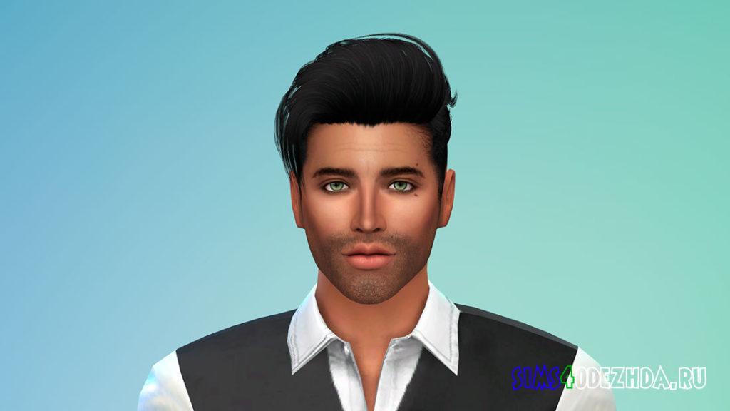 Мужская борода N41 для Симс 4 – фото 3