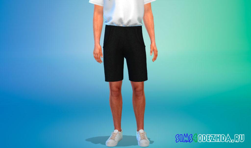 Мужские длинные шорты для Симс 4 – фото 2