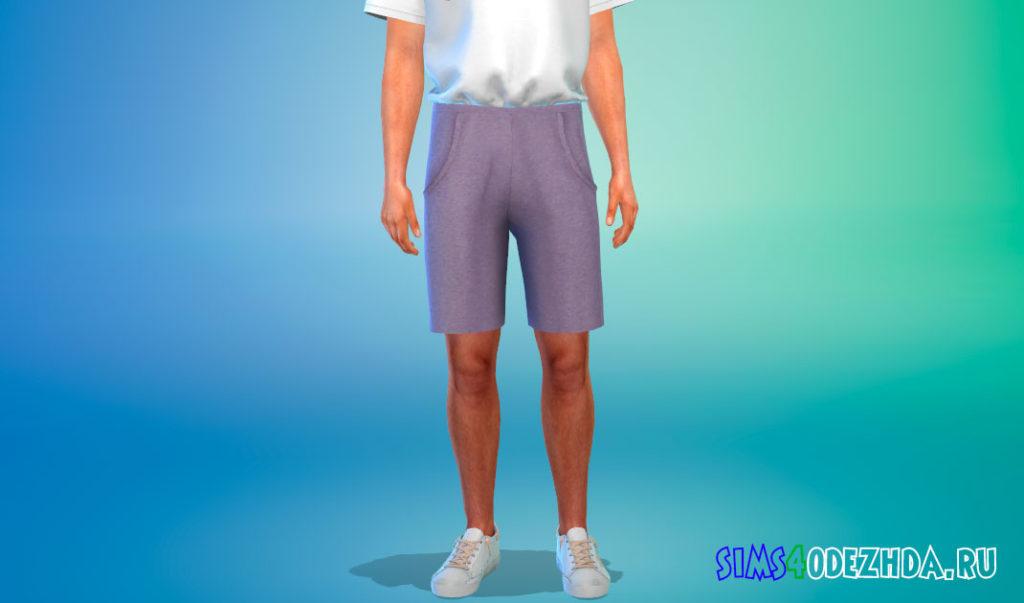 Мужские длинные шорты для Симс 4 – фото 3