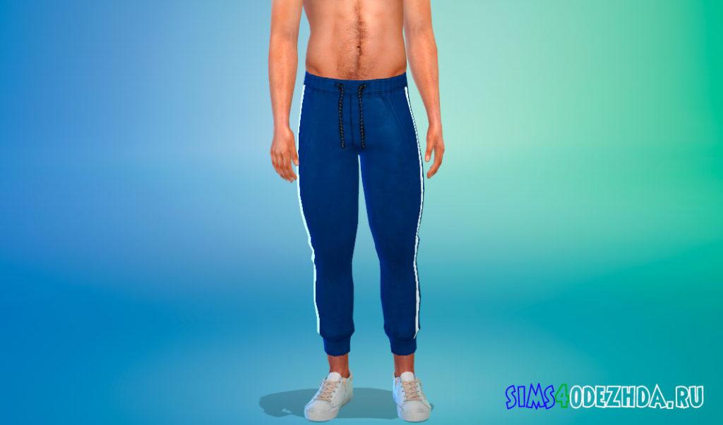 Мужские модные штаны в полоску для Симс 4 – фото 2