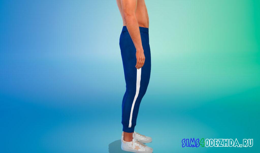Мужские модные штаны в полоску для Симс 4 – фото 3