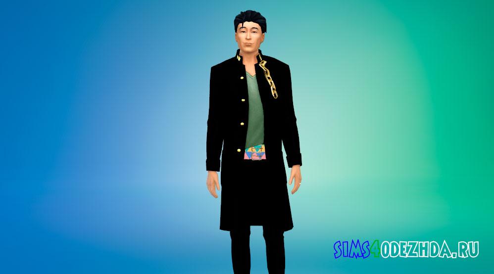 Наряд Нэкомару Нидай для Симс 4 – фото 1