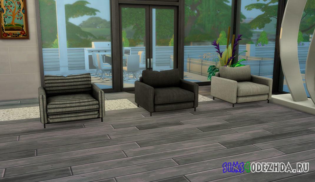 Неодимовое кресло для гостиной для Симс 4 – фото