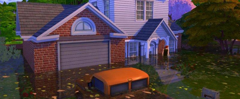 Оказывается, в The Sims 4 теперь можно устраивать наводнения - фото 1