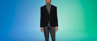 Пиджак с водолазкой для Симс 4 – фото 1