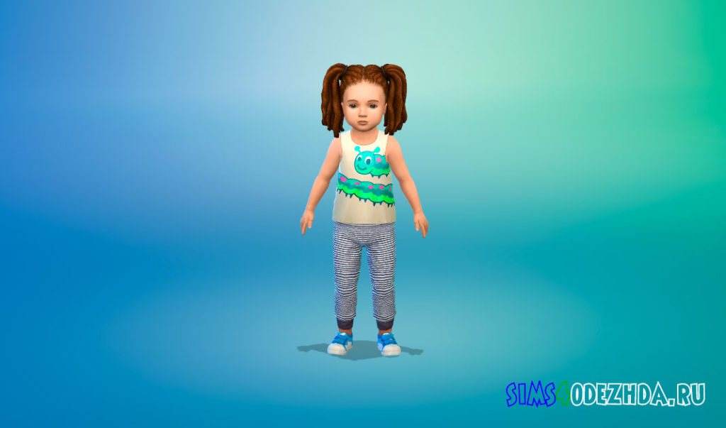 Пижамные штаны для малышей для Симс 4 – фото 1