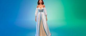 Платье Эсмеральды для Симс 4 – фото 1