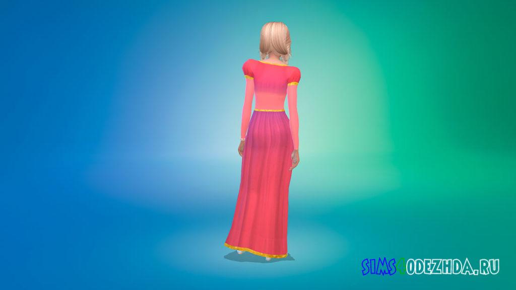Платье Рапунцель для Симс 4 – фото 3