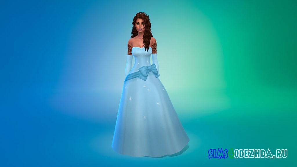Платье Тианы для Симс 4 – фото 1