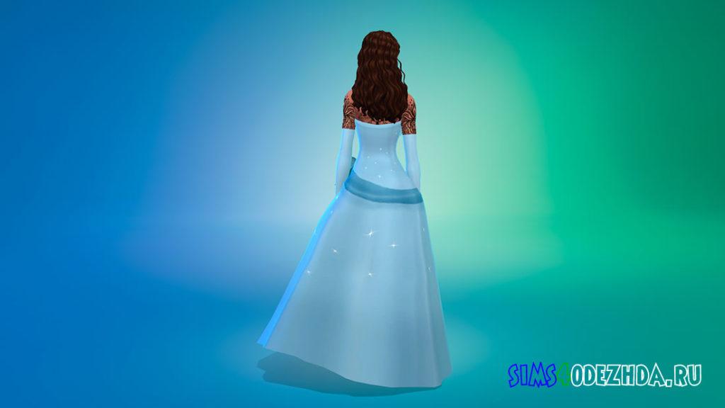 Платье Тианы для Симс 4 – фото 3