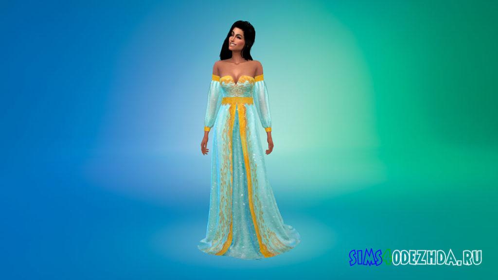 Платье Жасмин для Симс 4 – фото 1