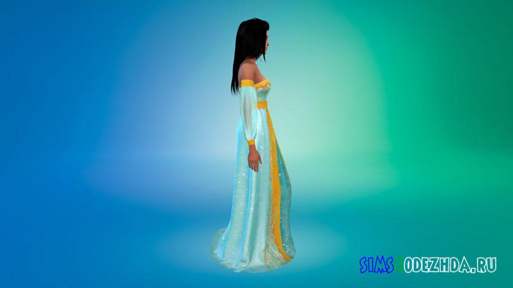 Платье Жасмин для Симс 4 – фото 2