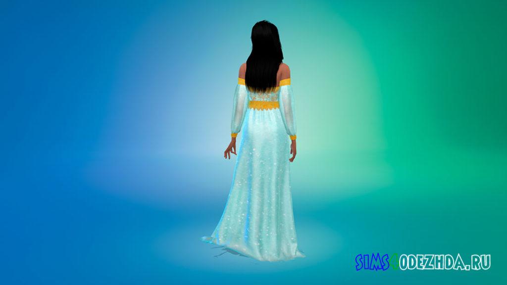Платье Жасмин для Симс 4 – фото 3