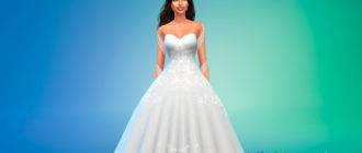Прекрасное свадебное платье для Симс 4 – фото 1