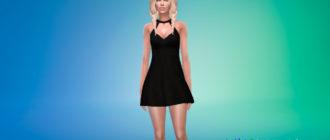 Простое платье А-силуэта для Симс 4 - фото 1