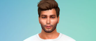 Реалистичная и короткая мужская борода для Симс 4 – фото 1