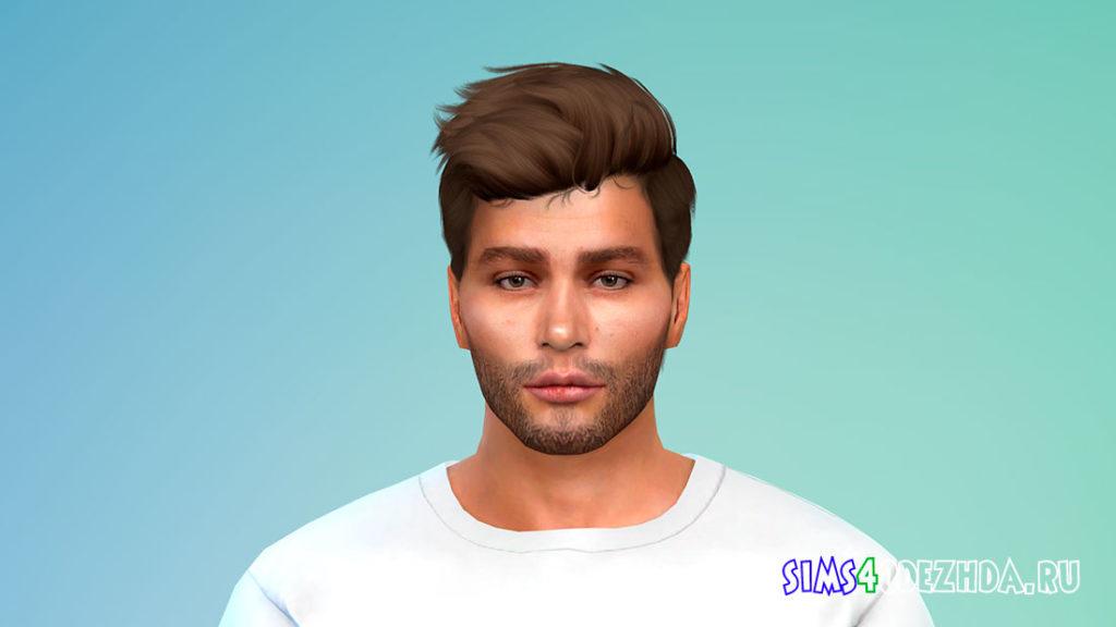 Реалистичная и короткая мужская борода для Симс 4 – фото 3