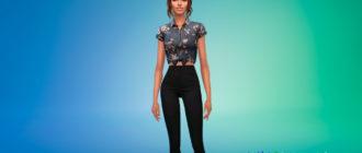 Рубашка с узлом для Симс 4 – фото 1