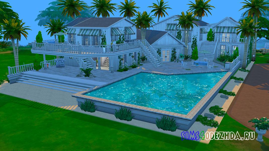 Семейный пляжный дом для Симс 4 – фото