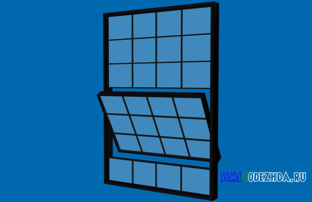 Широкое-окно-с-открытой-створкой-для-Симс-4-–-фото-1