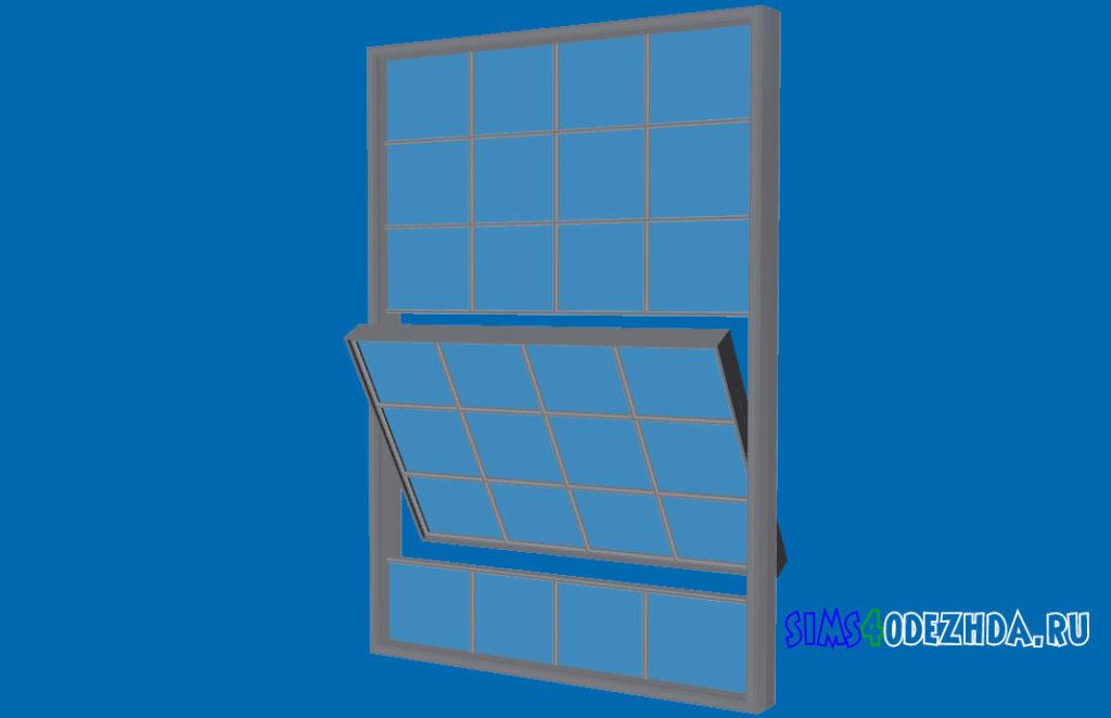 Широкое-окно-с-открытой-створкой-для-Симс-4-–-фото-2