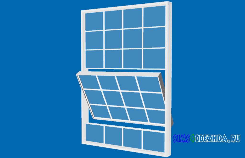 Широкое-окно-с-открытой-створкой-для-Симс-4-–-фото-3