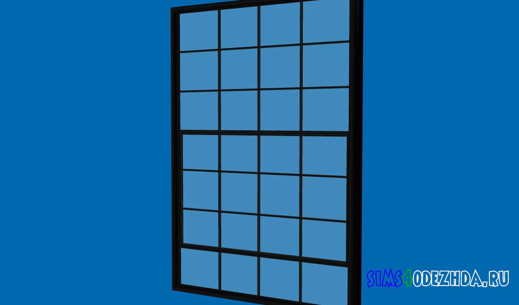 Широкое-окно-с-закрытой-створкой-для-Симс-4-–-фото-1