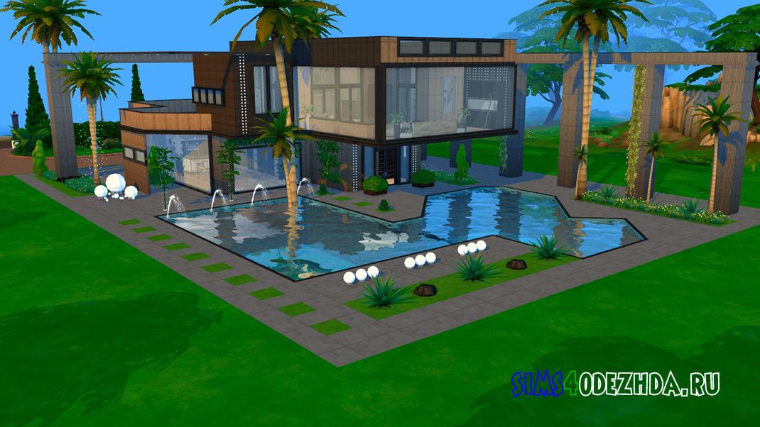 Современный дом в стиле лофт для Симс 4 – фото