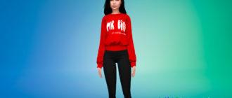 Стильный женский свитер для Симс 4 - фото 1
