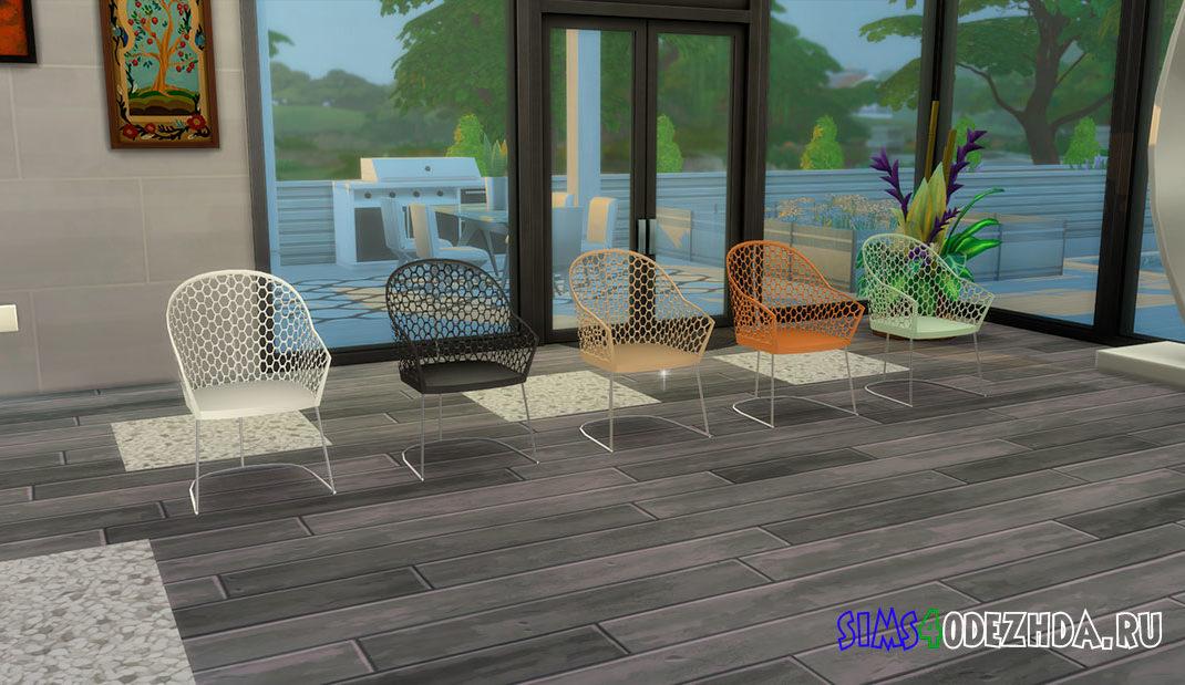Стул с сетчатой спинкой для кухни для Симс 4 – фото